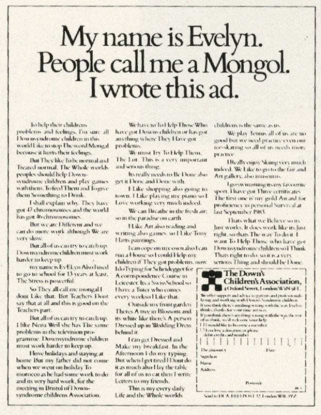 Down's Syndrome 'Mongol', David Holmes-01