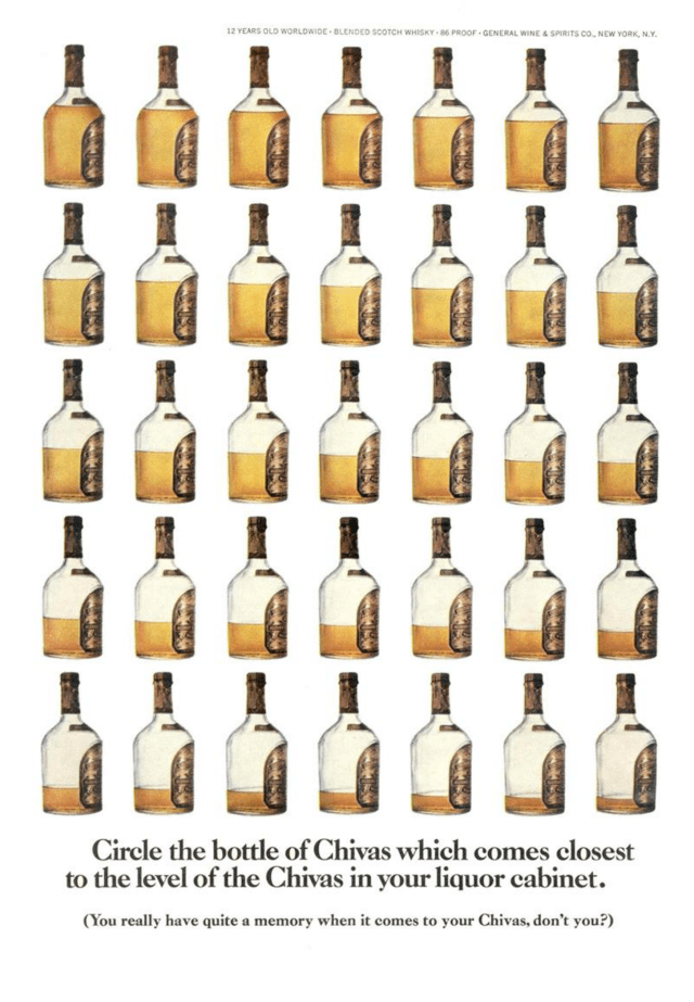 11. 'Circle The Bottle' Chivas Regal , DDB NY (Esquire)