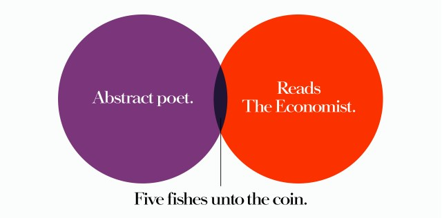'Abstract poet' The Economist, Dave Dye, Venn, 48 sheet, AMV-BBDO