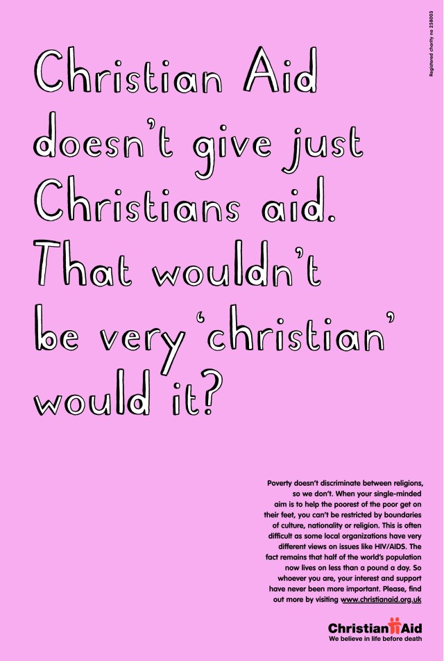 Christian Aid, 'Christian'. CDD