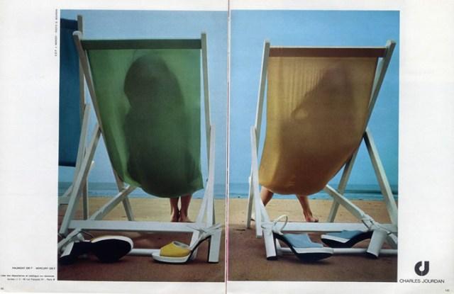 'Deck Chairs' Charles Jourdan, Guy Bourdain, 1973.jpg