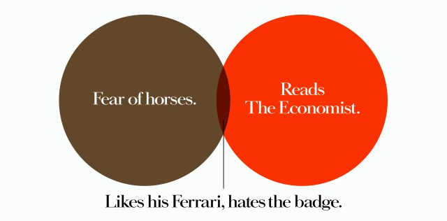 'Fear Of Horses' The Economist, Dave Dye, Venn, 48 sheet, AMV-BBDO