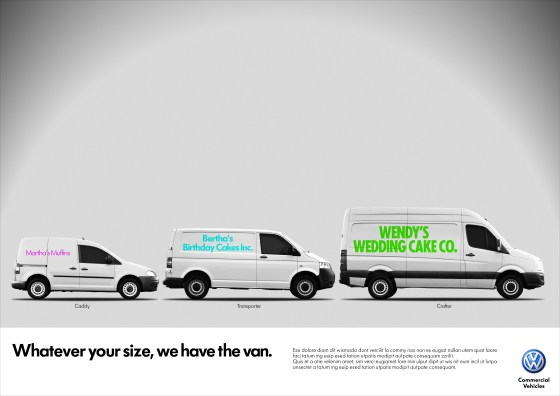 'Whatever your size, Martha's Muffins', Volkswagen CV, DHM-01