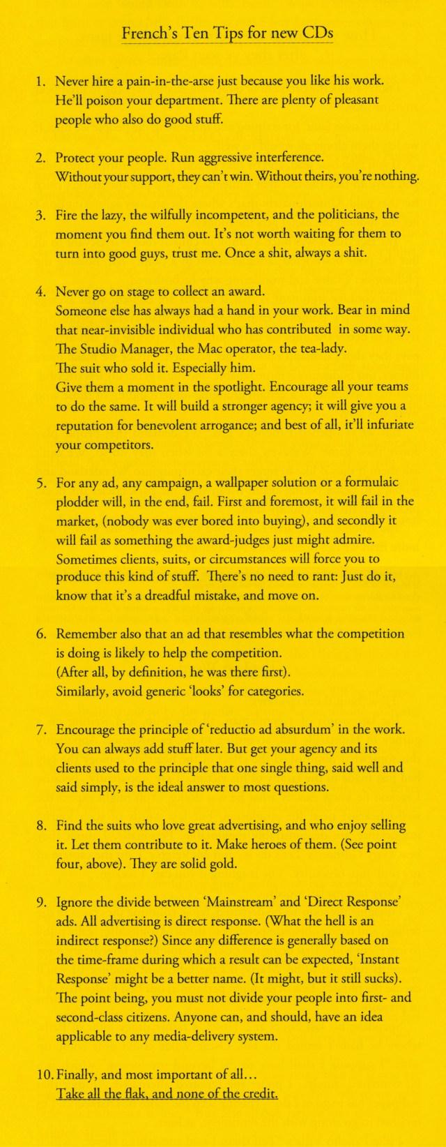 '10 Creative Director's Tips' Neil French-01.jpg