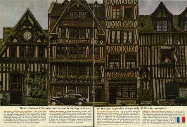 'These 4 Timbered' French Tourist Board, DDB NY, 1960's.jpg