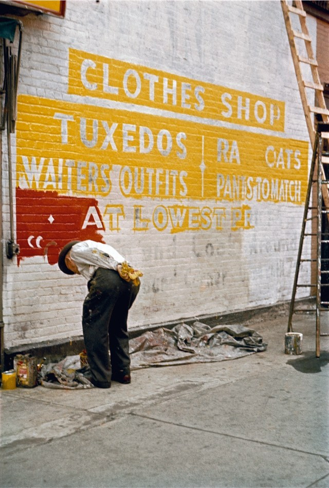 3. 'Sign_Painter_1954', Saul Leiter:Dave Dye