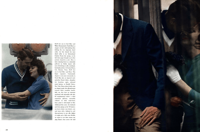 6b. Saul Leiter 'Cool Blue 2', Esquire