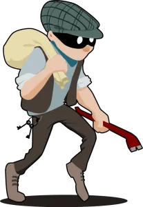 Burglar from OpenClipart.org. Thanks to tzunghaor for his generosity.