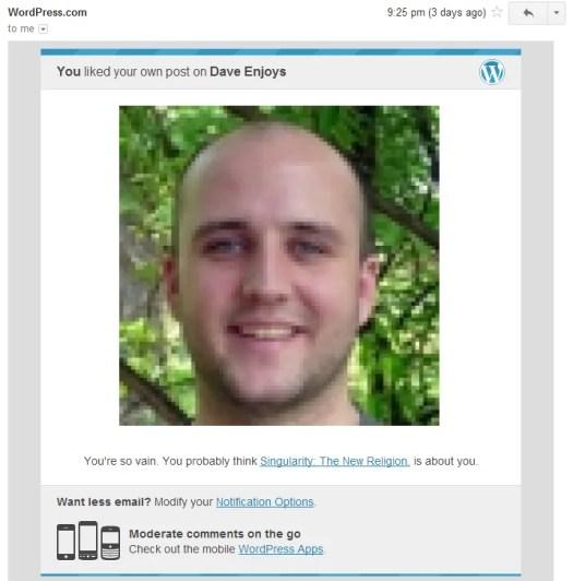 WordPress acts humorously.