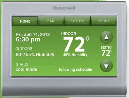 Full Color Honeywell WiFi Thermostat