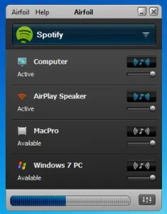 Screenshot of Airfoil on a Mac.