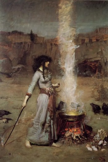 John William Waterhouse's Magic Circle (Dec. 31, 1885).