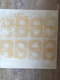 Unoxidised pattern after firing piece