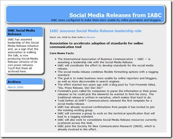 IABC Social Media Release