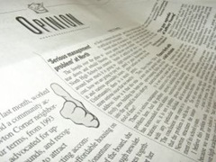Photograph of a newspaper