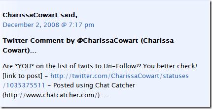 Chat Catcher