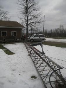 Radio tower down, via a car: not good