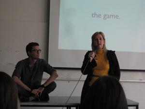 Julien Smith and Tara Hunt at PodCamp Montreak