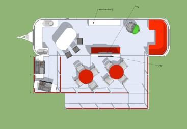 floor plan based on a very looong airstrteam