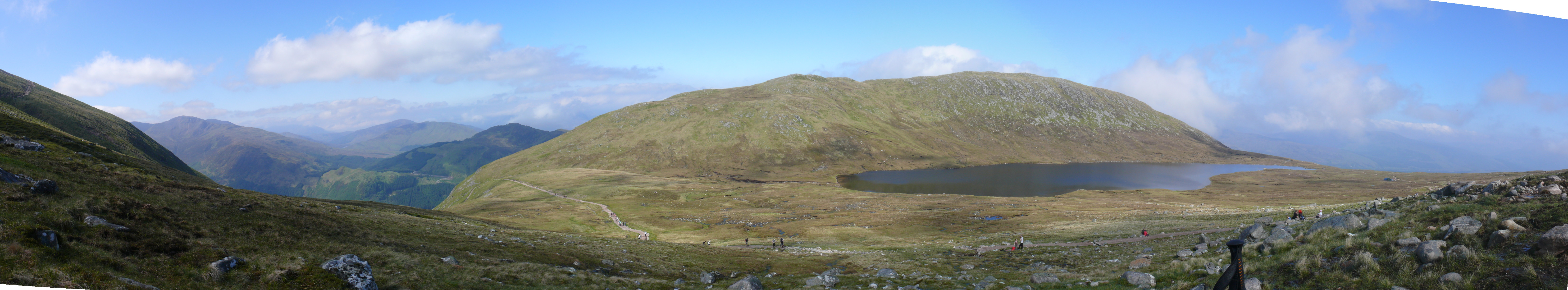 Lochan Meall an t-Suidhe from Ben Nevis path
