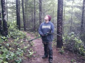 Wet, muddy, saw-happy thug of the woods wondering when the rain will stop. It's almost June!!