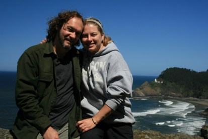 Heceta Head Lighthouse (background), where we started our hosting career a little over 3 years ago.