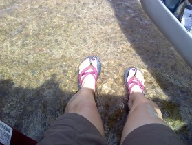 Ever sat in the driver seat with your feet in the river?
