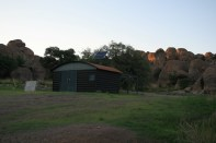 """The observatory at City of Rocks. During a star party the roof will be opened and inside is a 14"""" programmable telescope. It's amazing!"""