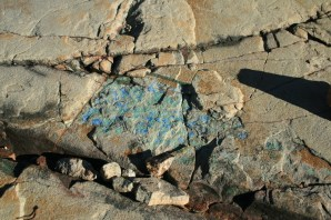 Color in the rock under our feet.