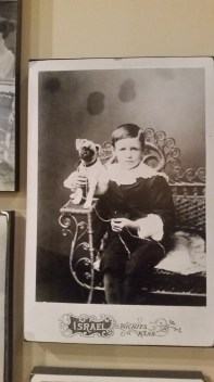 A picture in the museum featuring a pug puppy!!