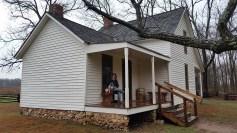George Washington Carver's childhood home.