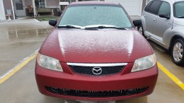 """Frozen solid with about 1/8"""" of ice, I couldn't even get my doors open..."""
