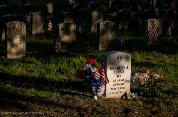 Soldiers' Graves with Flags - NY
