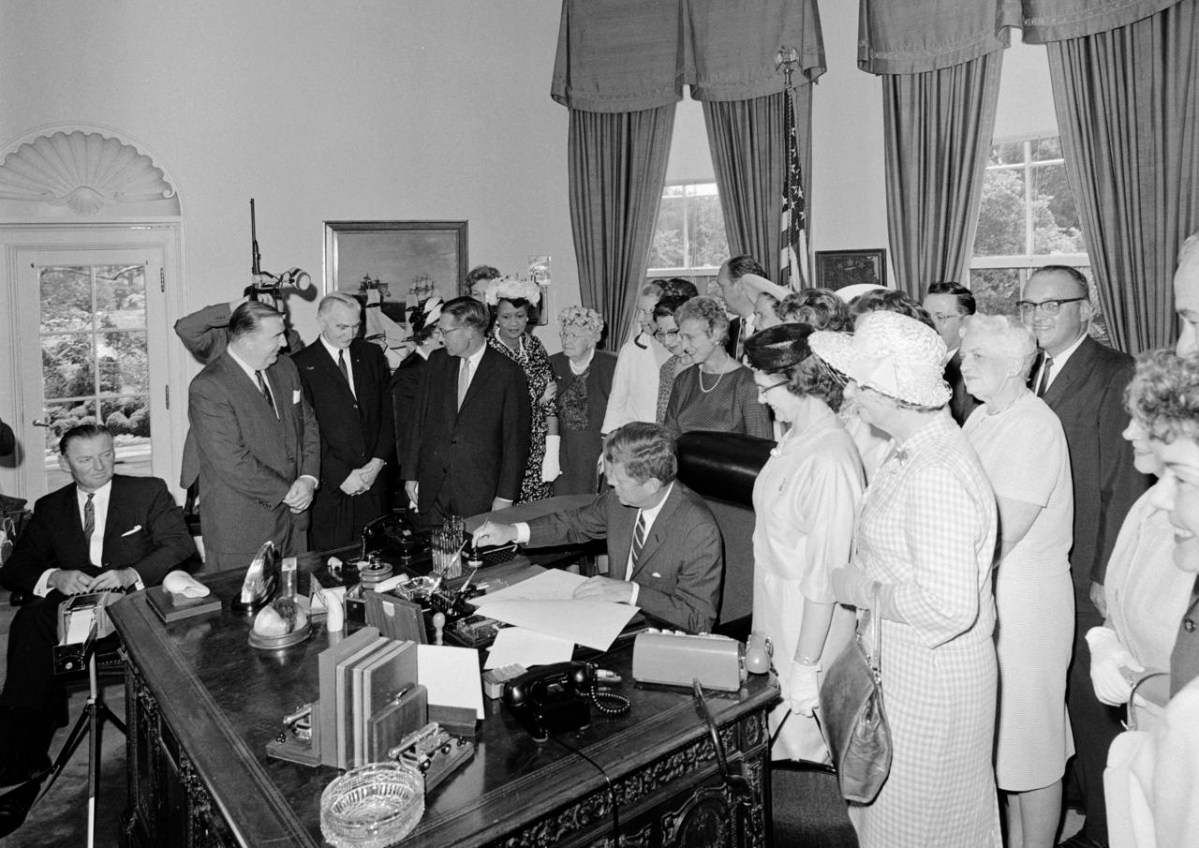 JFK Signs Equal Pay Act