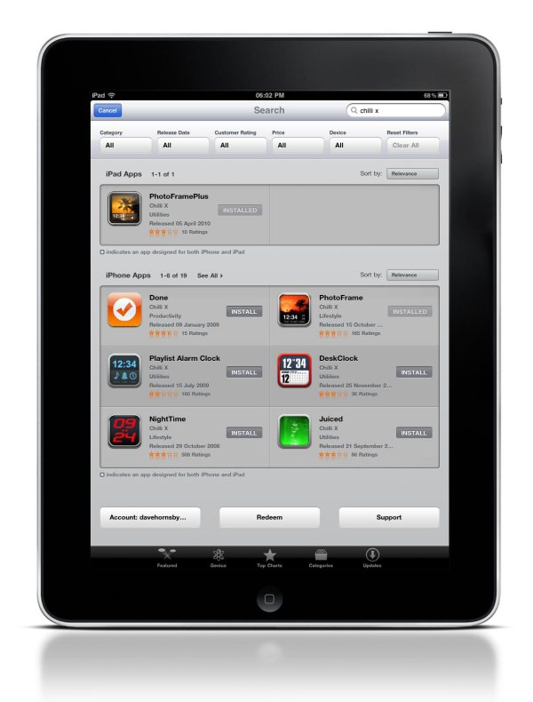 iPad App Store gets search filters davehornsby