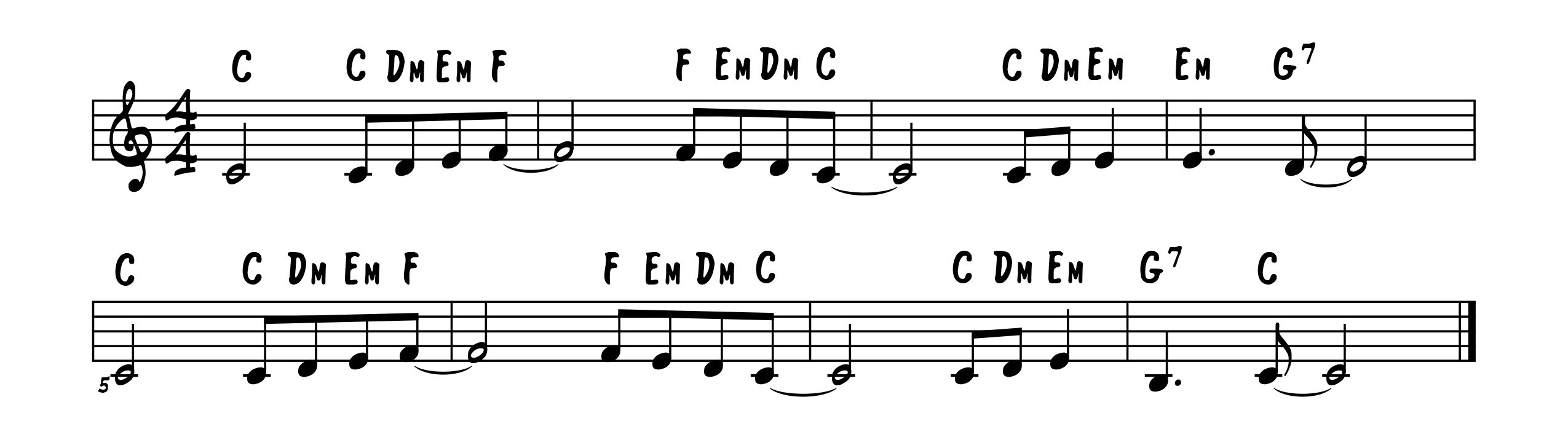 Lean On Me opening melody/chords