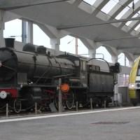 Preserved steam locomotive at Gare SNCF Reims