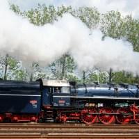 Hungarian 4-8-2 steam locomotive, Wolsztyn, Poland; 03-05-14