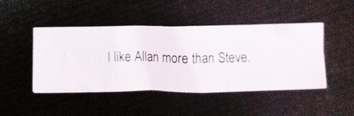 LessConf custom fortune cookie