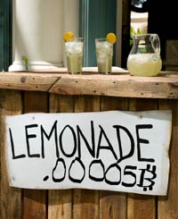 Will lemonade be sold in Bitcoins in the near future?