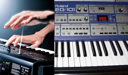 Roland EG-101 and D-Beam Controller
