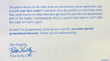 Sales Prevention Note