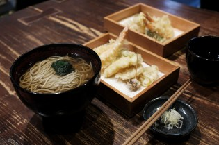 Soba and Tempura - Hayauchi Soba Shop - Osaka Japan