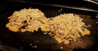 Osaka Style Okonomiyaki - Dotonburi - Osaka Japan
