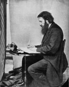 An image of George MacDonald working.