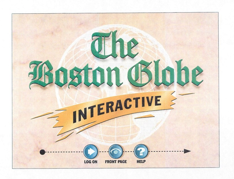 Boston Globe Interactive logo 1994