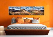 High Crag and Buttermere Panorama - 3 Panel Canvas on Wall