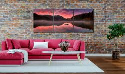 Thirlmere Autumn Sunrise - 3 Panel Canvas on Wall
