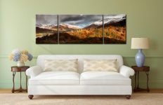 Autumn Fades Over Grasmere - 3 Panel Wide Centre Canvas on Wall