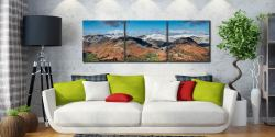 Glenridding Panorama - 3 Panel Canvas Print on Wall